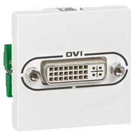 Legrand Mosiac DVI-I connector 2 modules - wit (078771)