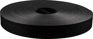 MEPAC tweezijdig klittenband 20mm zwart flexibel rol 22,5m (456611)