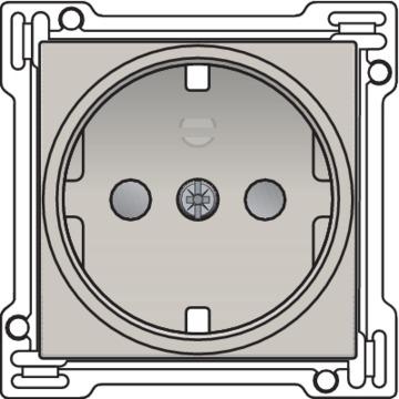 Niko Original - Centraalplaat stopcontact Lichtgrijs 102-66901