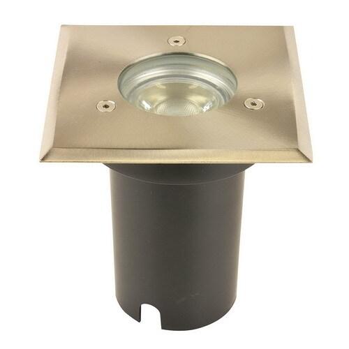 Simply Design led grondspot vierkant + GU10 5W led - aluminium