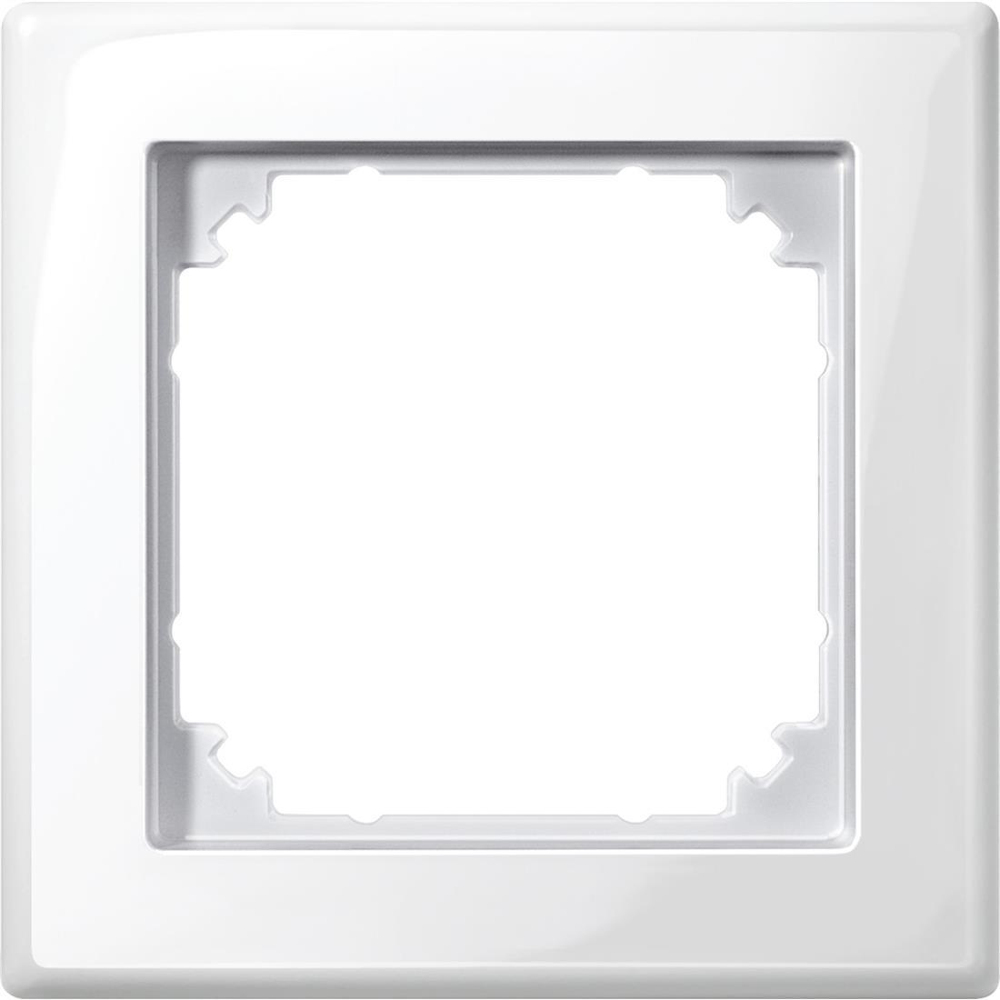 Schneider Electric Merten M-Smart 1-voudig afdekraam - polarwit glanzend (478119)