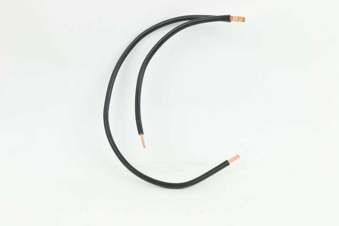 Soepel Twin aansluitdraad 4 mm2 (120 mm/480 mm) met geperste uiteinden - zwart