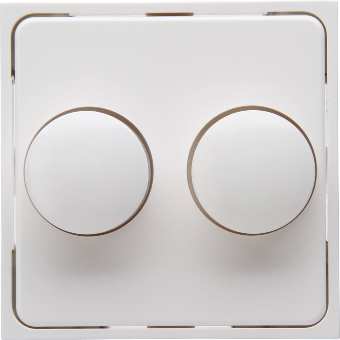Kopp afdekking voor duo dimmer RIVO - wit (492917187)