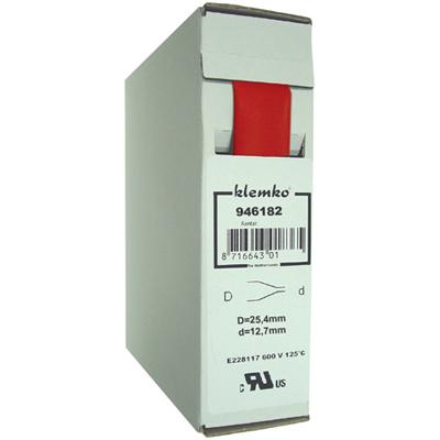 KLEMKO FP10TB krimpkous rood 25,4/12,7mm trekbox 5m