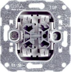 Gira wissel-wisselschakelaar 10A 250V inbouw (010800)