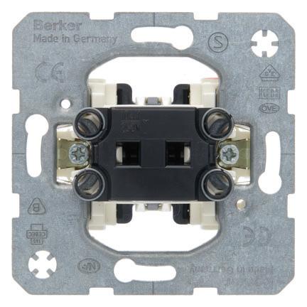 Hager Berker inbouw impulsdrukker 1P met maakcontact (503101)