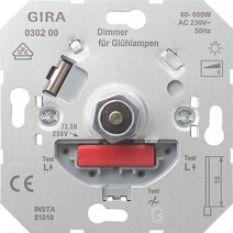 Gira gloeilampen dimmer inbouw 60 tot 600W (50317)