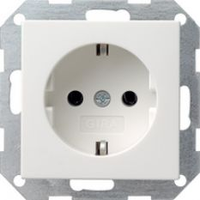 Gira stopcontact met randaarde 1-voudig - zuiver wit glanzend (046603)