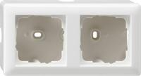 Gira opbouwbehuizing met afdekraam 2-voudig - zuiver wit (006203)