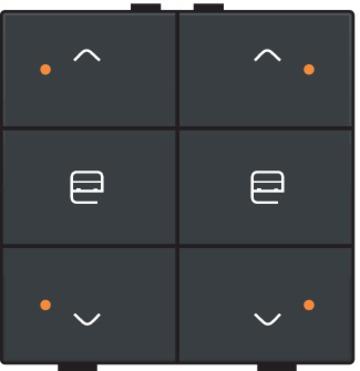 Niko motorbediening 2-voudig met LED-indicatie - Home Control antraciet (122-52036)