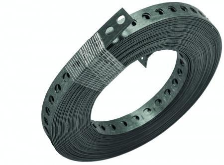 DEHA metalen montageband 12x0,75 mm gat 5,2 mm rol 10 meter