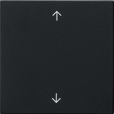 Gira S3000 bedieningsknop met pijltjes - system 55 zwart mat (5361005)