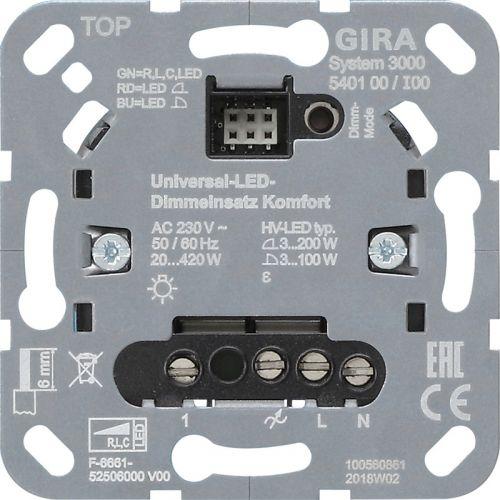 Gira Systeem 3000 universele led drukdimmer komfort (540100)