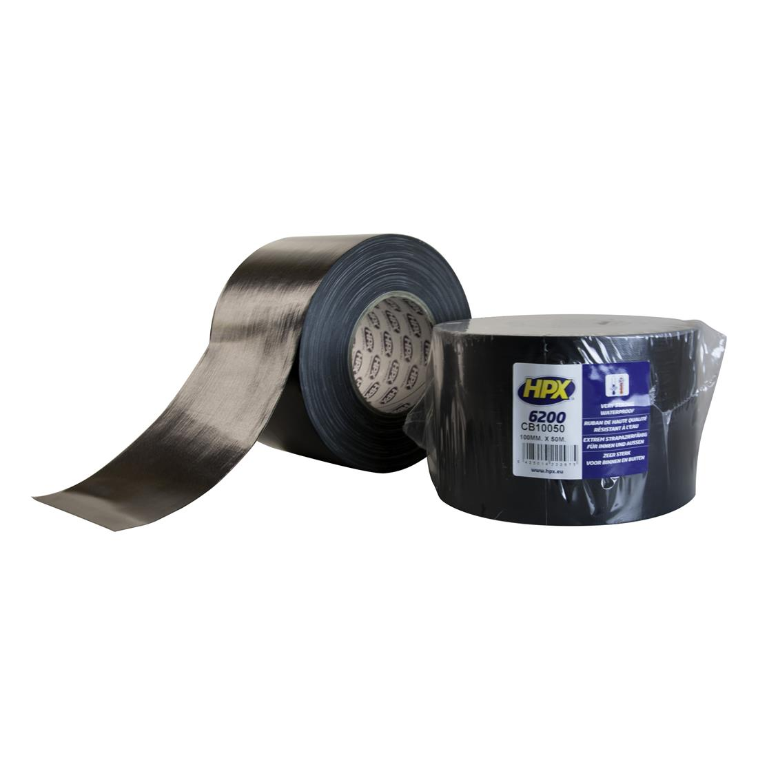 HPX duct tape 100mm x 50 meter zwart (CB10050)