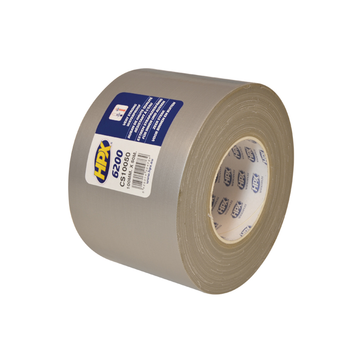 HPX duct tape 100mm x 50 meter zilver (CS10050)