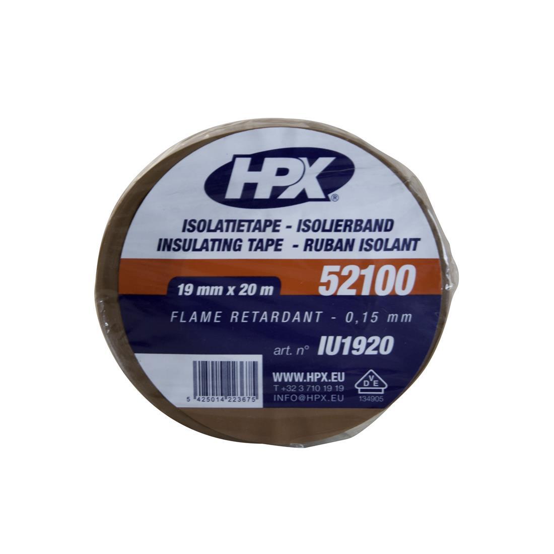 HPX isolatietape 19mm x 20 meter bruin (IU1920) IU1920H