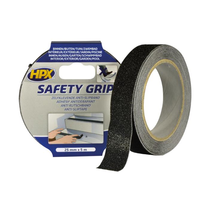 HPX grip tape 25mm x 5 meter zwart (SB2505)