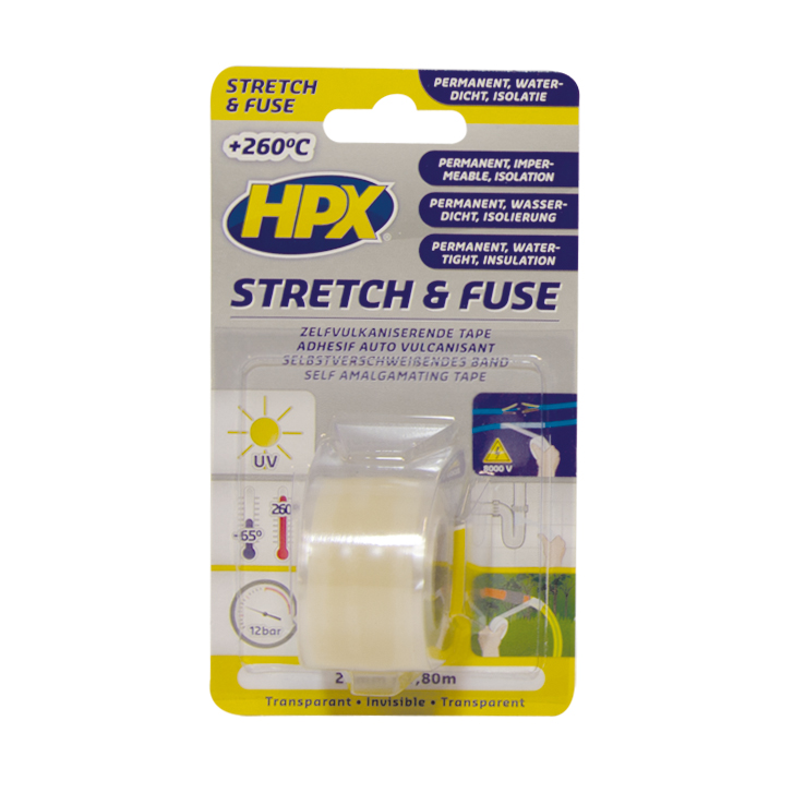 HPX stretch & fuse 25mm x 1,8 meter transparant (SI12580)
