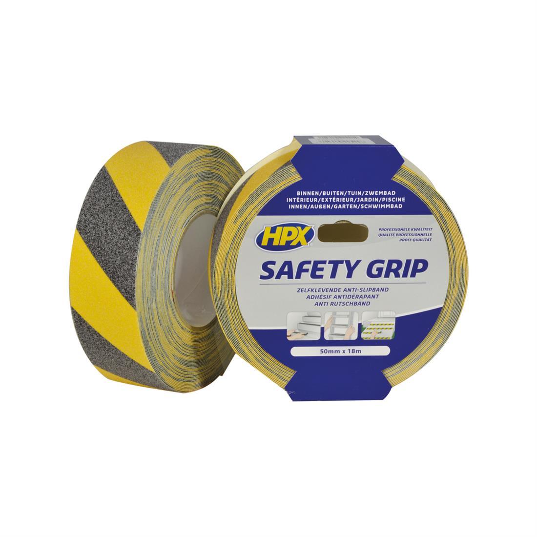 HPX grip tape 50mm x 18 meter zwart/geel (SY5018)