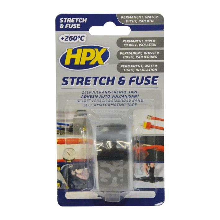 HPX Stretch & Fuse 25mmx3m Zwart