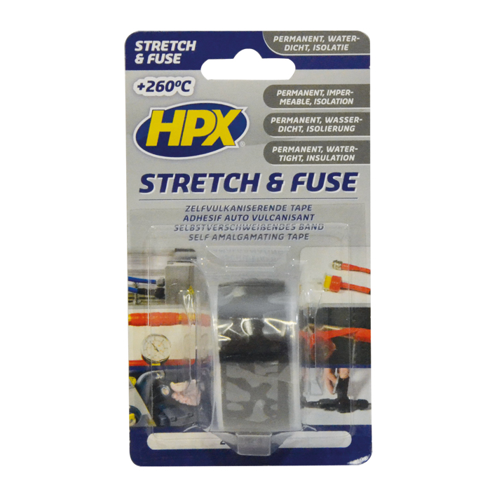 HPX stretch & fuse 25mm x 3 meter zwart (SZ2503)