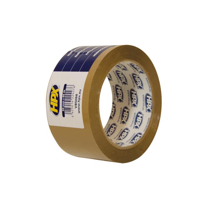 HPX verpakkingstape 50mmx60m Bruin