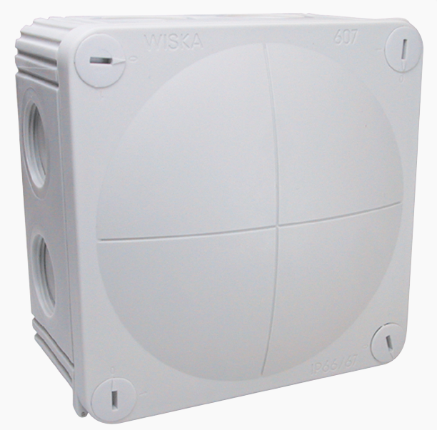 Wiska kabeldoos 85x85mm inclusief 3 wartels PG16 (308/KV)