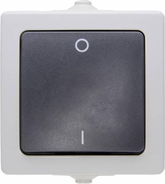 Kopp NAUTIC 2-polig schakelaar IP44 - grijs (565256009)