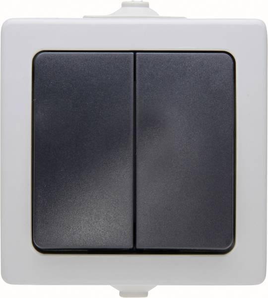 Kopp Nautic serieschakelaar opbouw IP44 2-polig spatwaterdicht - grijs (5655.5600.8)
