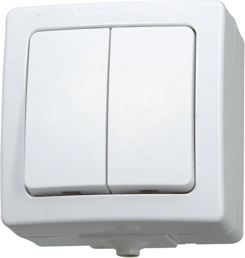 Kopp NAUTIC serieschakelaar ip44 wit