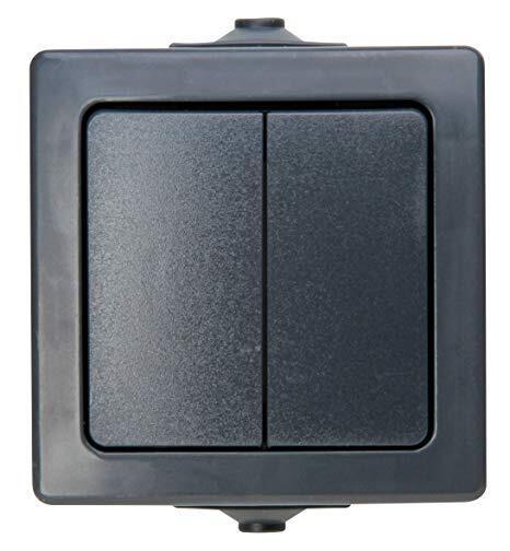 Kopp NAUTIC serieschakelaar ip44 antraciet