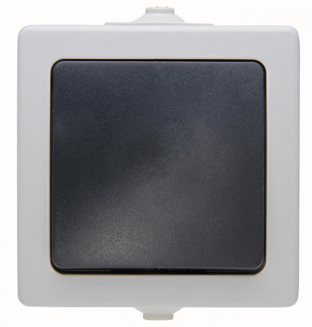 Kopp NAUTIC wisselschakelaar spatwaterdicht ip44 1-voudig grijs