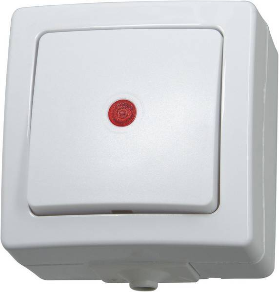 Kopp NAUTIC controleschakelaar IP44 - arctic wit (566602003)