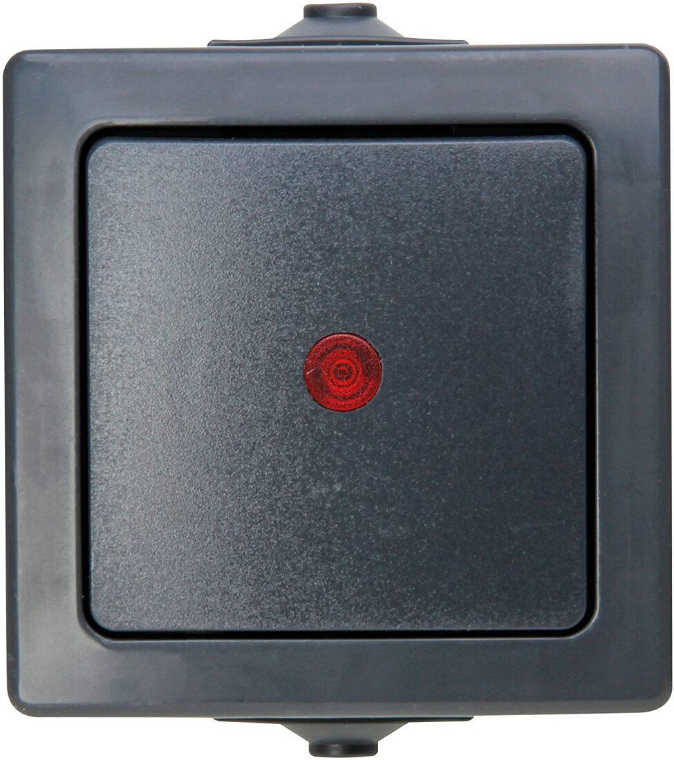 Kopp Nautic controleschakelaar IP44 - antraciet (566615003)