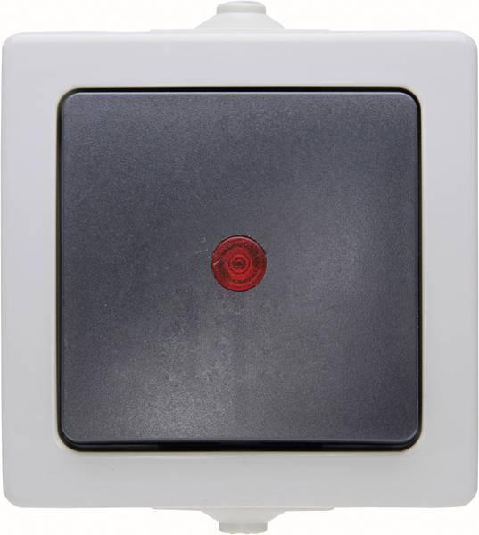Kopp NAUTIC controleschakelaar IP44 - grijs (566656002)