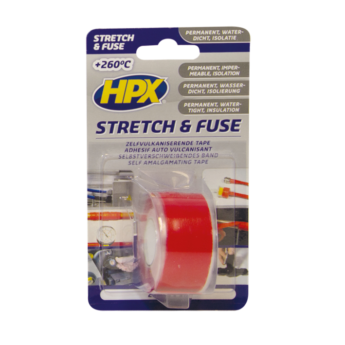 HPX Stretch & Fuse 25mmx3m Rood
