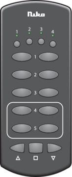 Niko Rf - Draadloze handzender 4 kanalen Zwart 05-312