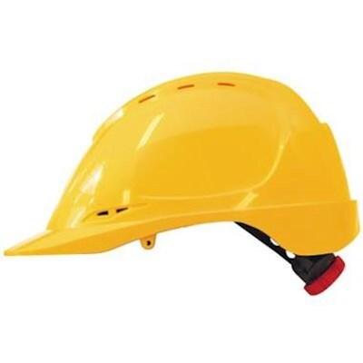 M-Safe Veiligheidshelm MH6020 ABS met draaiknop geel
