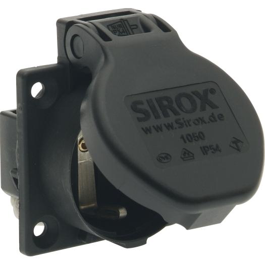 SIROX machinecontactdoos IP54 met klapdeksel, flens 50x50mm - zwart (601.156-3)