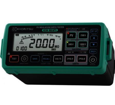Kyoritsu isolatieweerstand en aardingsweerstandtester (PV-tester) inclusief MC4 adapterset (6024PV-KIT)