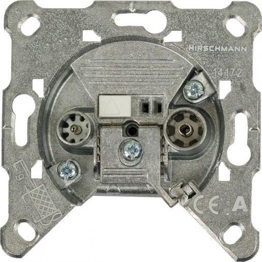Hirschmann radio/tv wandcontactdoos geschikt voor retourverkeer (695020585)