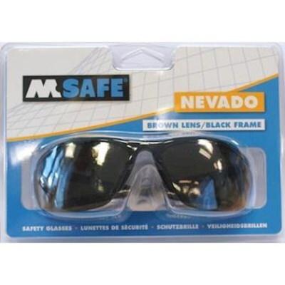 M-Safe Veiligheidsbril Nevado, bruine pc lens( blisterverpakking)