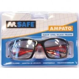 M-Safe Veiligheidsbril Ampato, heldere pc lens( blisterverpakking)