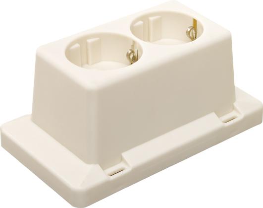 ABB HAF 2-voudig wandcontactdoos voor 3611 creme 3611W2