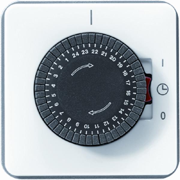 Jung (Hateha) schakelklok met aandrijving voor synchroonmotor 16A 250V - CD500 alpin wit (CD5024WW)