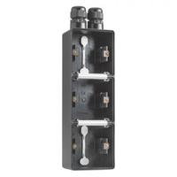 Niko New Hydro - Onderbak 3-voudig verticaal Zwart 761-84352