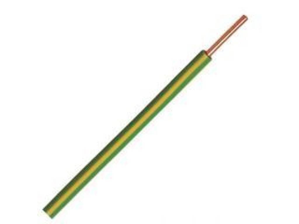 Waskoning+Walter VD draad 2,5mm geel/groen rol 100 meter
