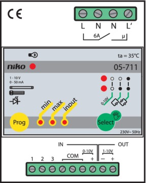 Niko Electronica - Dimmer EVSA 05-711