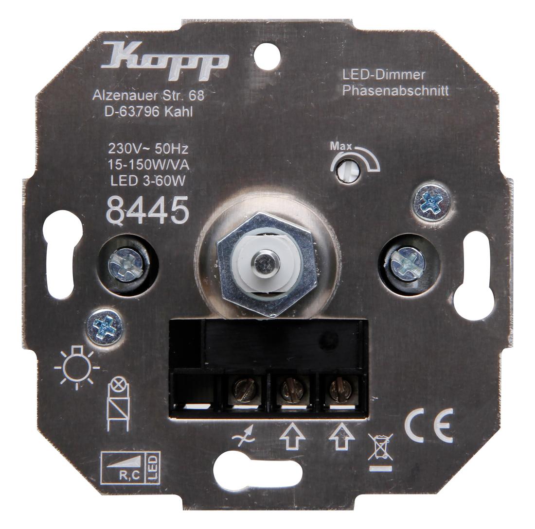 Kopp drukschakelaar-led-dimmer led RC 3-50W