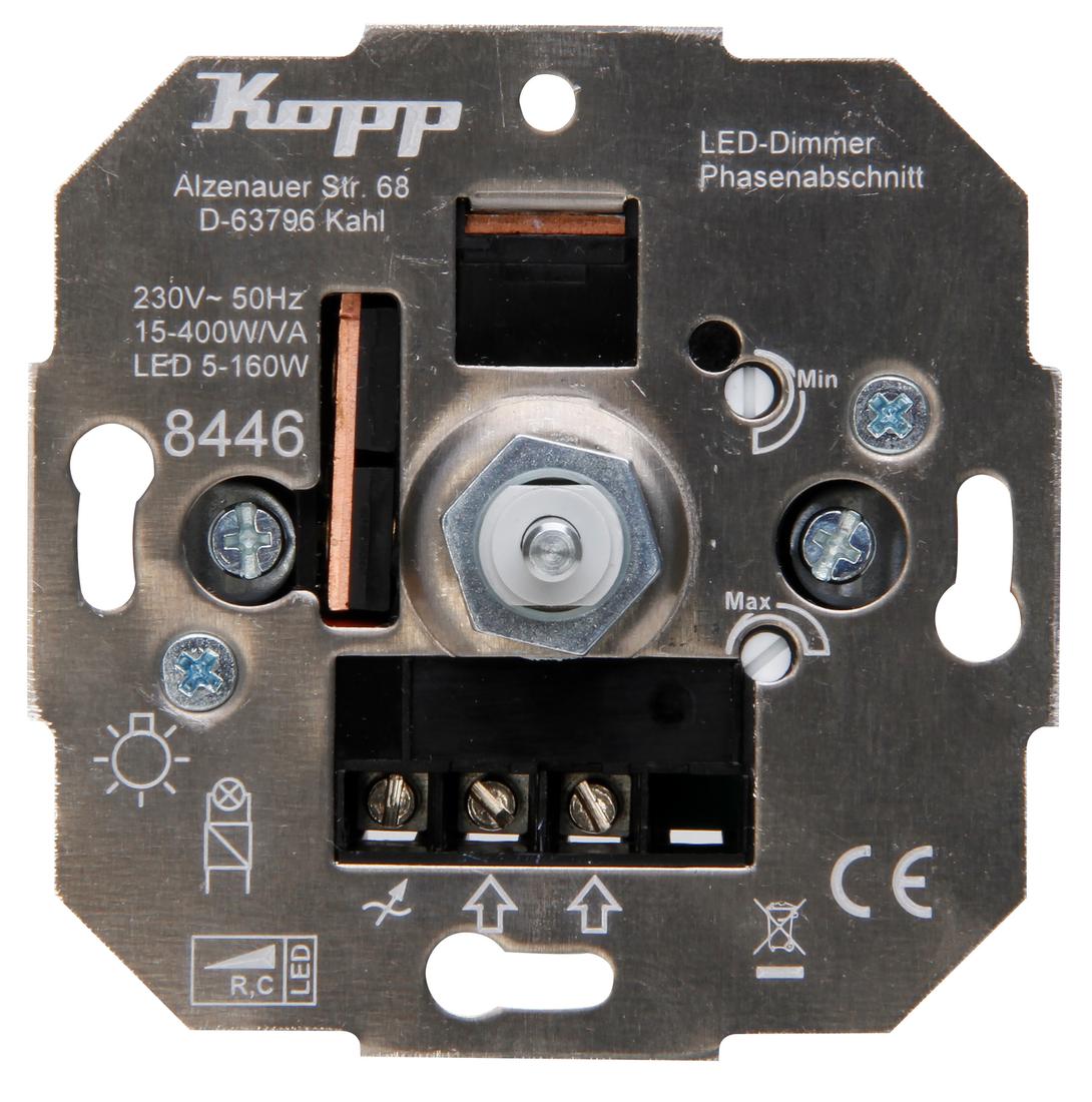 Kopp drukschakelaar-led-dimmer led RC 5-150W